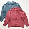 Женский теплый свитер под горло Oversize - мягкая приятная вязка