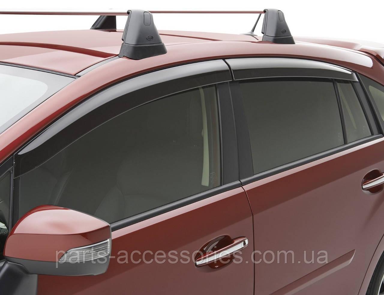 Ветровики дефлекторы передние задние Subaru XV Crosstrek 2013-2016 новые оригинальные