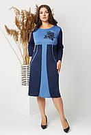 """Платье женское французский трикотаж (48-58)(4цв) """"ALISA"""" недорого от прямого поставщика"""
