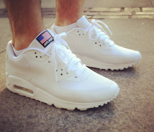 Nike Air Max 90 White Hyperfuse Independence day  продажа, цена в ... df98ddce08a