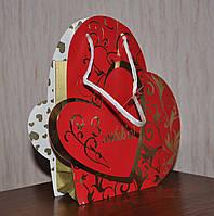 """Подарочный пакет с ручками """"С любовью"""" оптом, фото 1"""
