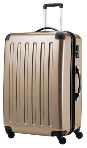 Бронзовый бесподобный семейный 4-колесный чемодан-гигант 130 л. HAUPTSTADTKOFFER alex maxi bronze