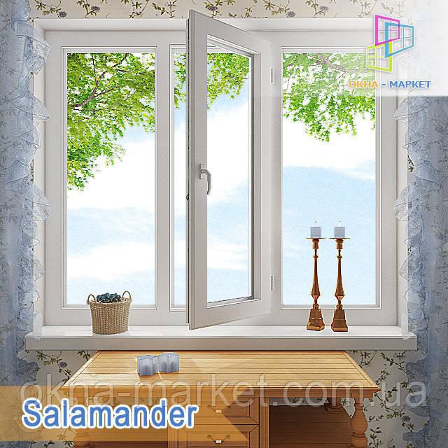 "Трьохстулкове вікно Salamander eco 2D 1800x1400 ""Окна Маркет"""