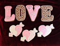 Пряники ко Дню влюблённых  расписные Подарочные наборы
