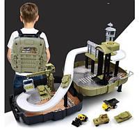 Детский игровой набор Военная база в рюкзаке подарки детям игрушки для мальчиков детская кухня набор доктора