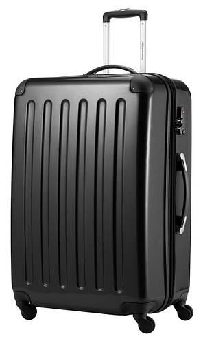 Великолепный семейный 4-колесный пластиковый чемодан-гигант 130 л. HAUPTSTADTKOFFER alex maxi black черный