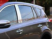 Хромированные накладки на стекла (стекольный молдинг) Toyota RAV 4 2013+