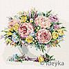 """Набір картина для розпису за номерами ТМ Ідейка, Квіти """"Мікс кольорів"""" 40х40 см"""