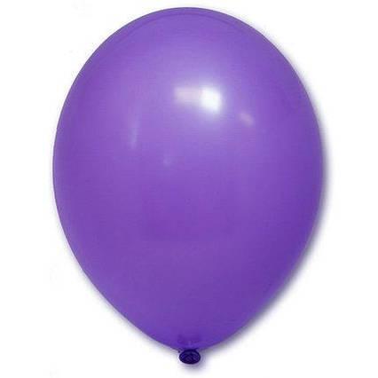 Повітряні кулі королівський фіолетовий пастель 30 см BelBal Бельгія 5 шт
