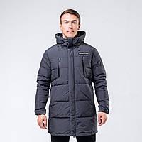 Куртка пуховая мужская Peak Sport FW594171-DKG S Темно-серая (6941123679381)