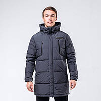 Куртка пуховая мужская Peak Sport FW594171-DKG 3XL Темно-серая (6941230102444)