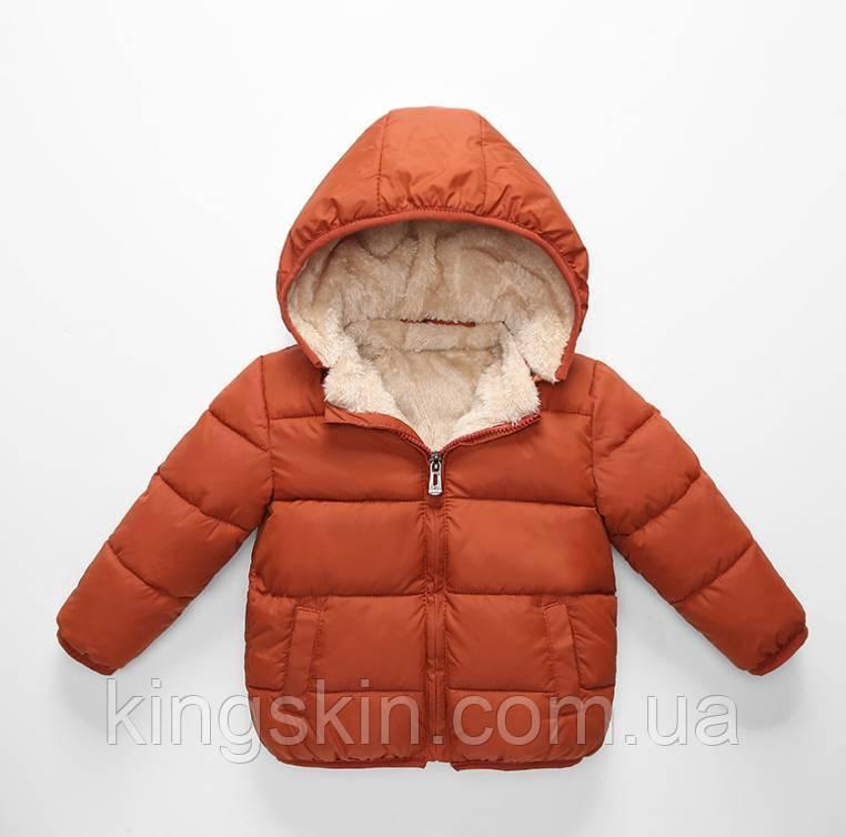 Куртка дитяча Bbl 120 см Коричнева (202073)