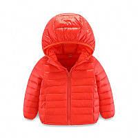 Дитяча пухова куртка Kavaland 120 Червона (202078)