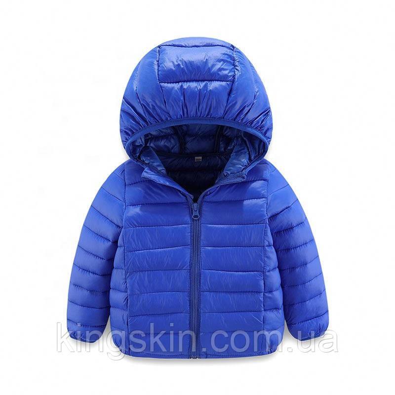 Детская пуховая куртка Kavaland 110 Синяя (202081)