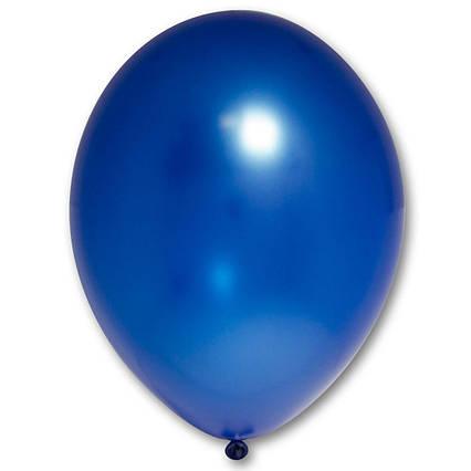 Повітряні кулі сині королівський металік 30 см BelBal Бельгія 5 шт