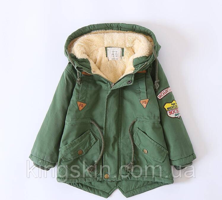 Детская флисовая куртка ZCLA Baby 100 размер Зеленая (202083)