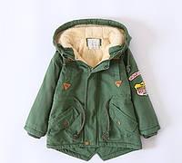 Детская флисовая куртка ZCLA Baby 100 размер Зеленая (202083), фото 1