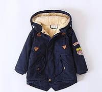 Детская флисовая куртка ZCLA Baby 110 размер Синяя (202090)