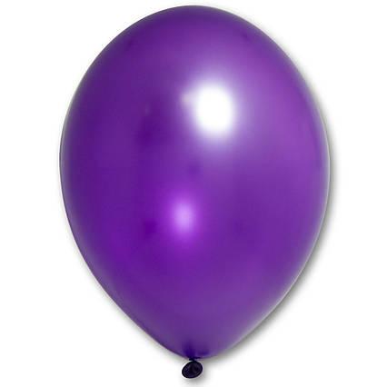 Повітряні кулі фіолетові металік 30 см BelBal Бельгія 5 шт