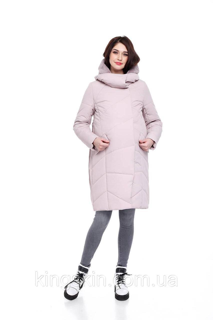 Зимова жіноча куртка ORIGA Ізабелла 44 Пудровий