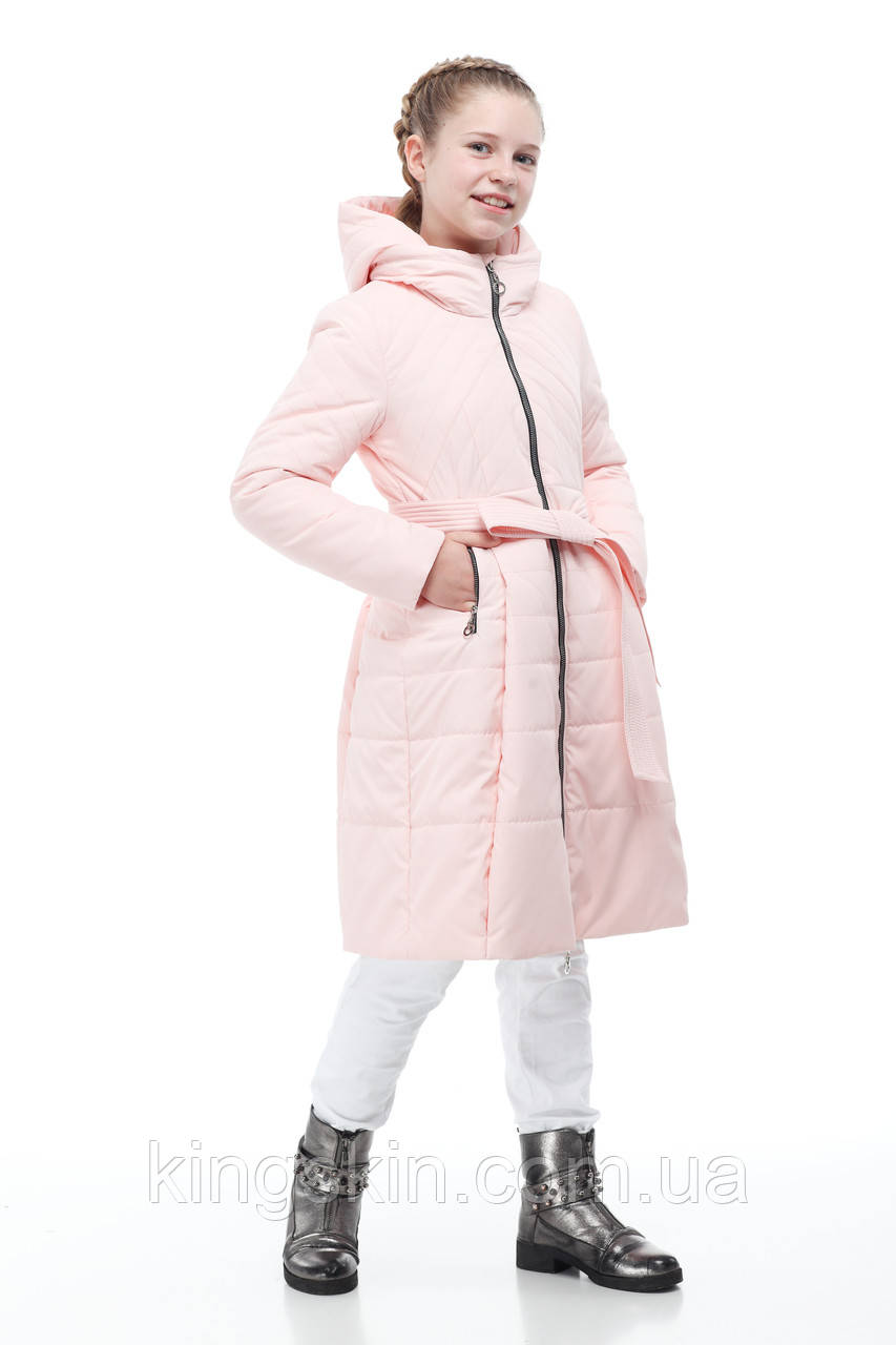 Дитяча жіноча демісезонна куртка ORIGA Аврора р 38 зріст 152 Персик