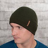 Мужская шапка на флисе Luxyart универсальный 50-60 Хаки (MC-101)