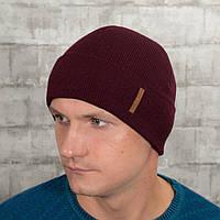 Мужская шапка на флисе Luxyart универсальный 50-60 Бордо (MC-102)