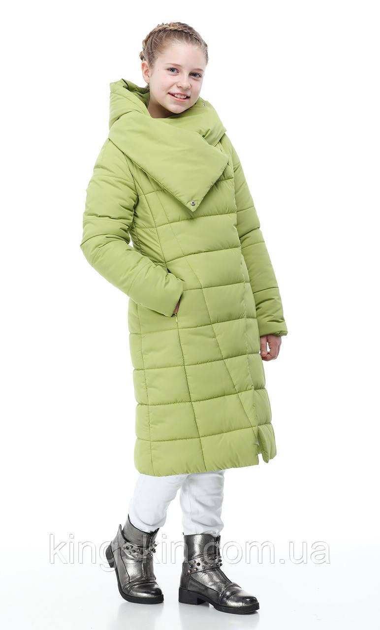 Дитяча жіноча зимова куртка ORIGA Комільфо р 38 зріст152 Лайм