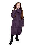 Дитяча жіноча зимова куртка ORIGA Комільфо р 36 зріст 146 Амарантовій, фото 1