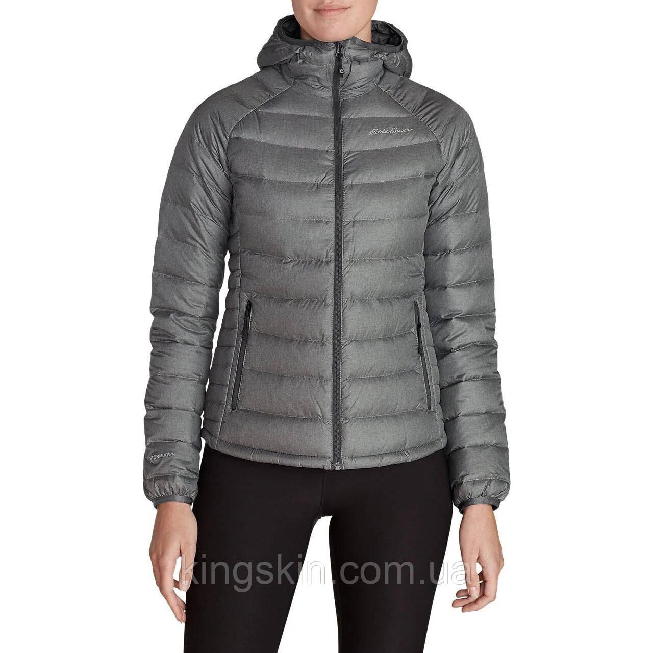 Куртка Eddie Bauer Womens Downlight StormDown Hooded Jacket DK SMOKE  HTR S Серый (1074DSMH)