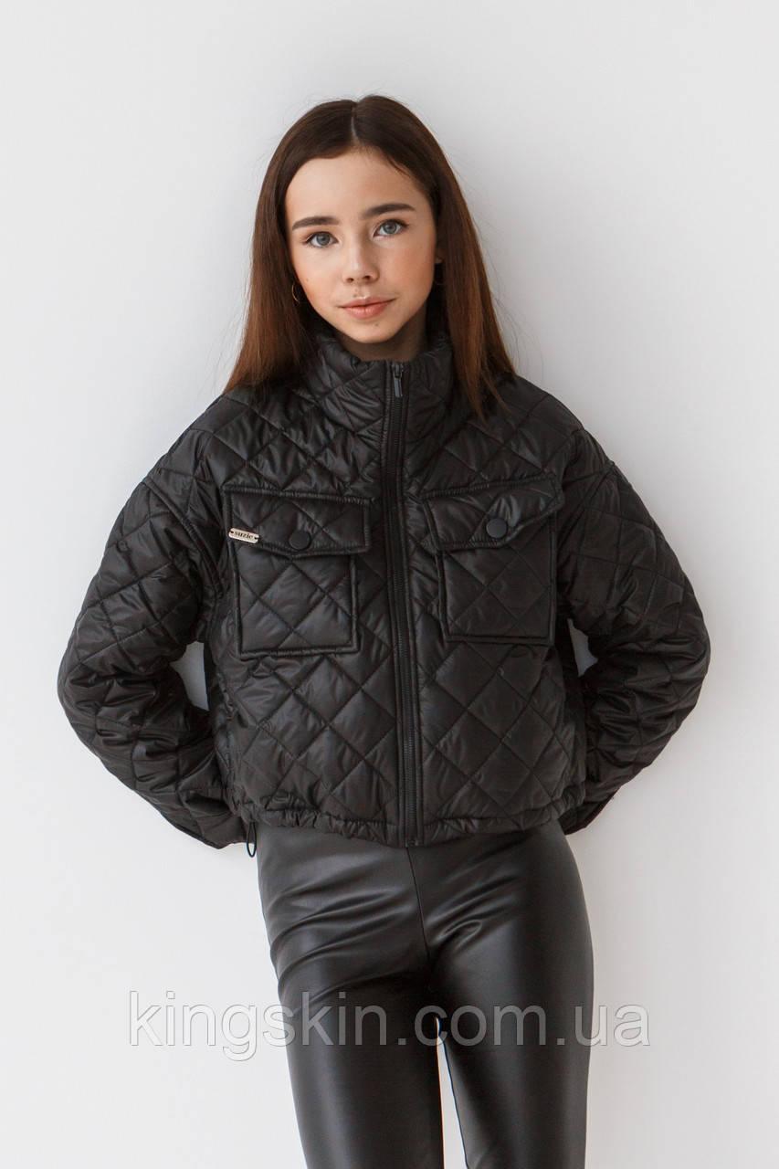 Куртка Suzie Лорайн 146 см Черная КТ42111п