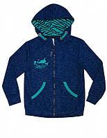 Куртка з каптуром для хлопчика SMIL 116328 р. 158 Темно-синій меланж