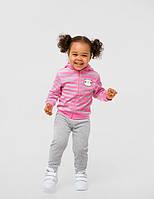 Куртка для дівчинки SMIL 117265 р. 80 Сіро-рожева смужка
