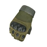 Рукавиці тактичні безпалі Lesko E301 Green M, фото 1