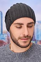 Мужская шапка-колпак «Флориан» Braxton графит 56-59