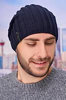 Мужская шапка-колпак «Флориан» Braxton джинсовый 56-59