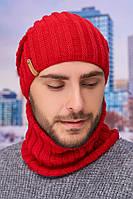 Мужской комплект «Флориан» (шапка-колпак и баф) Braxton красный 56-59