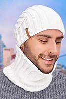 Мужской комплект «Флориан» (шапка-колпак и баф) Braxton белый 56-59