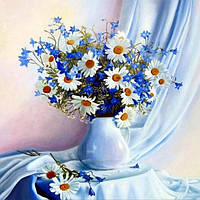 Алмазная вышивка Букет полевых цветов 30*30 см (арт. FS005)