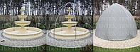 Тент для фонтана с каркасом 2.5 метра в диаметре и 2,20 высотой.
