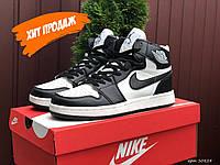 Nike Air Jordan мужские высокие кроссовки для баскетбола / модные молодежные кроссы найк аир джордан Реплика