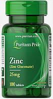 Цинк глюконат Zinc Gluconate 25mg 100 Tablets