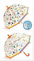 "DJECO Зонт прозрачный меняющий цвет под дождем ""Лица"", DD04709"
