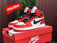 Мужские баскетбольные высокие кроссовки Nike Air Jordan, красные / молодежные кроссы найк аир джордан Реплика