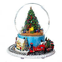 """Музичний куля зі снігом і автометелью """"Різдво"""" 16*17 см"""
