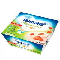 Humana «С клубникой и натуральными пребиотиками» Кисломолочный продукт 4х100 г