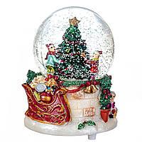 Новорічний музичний куля зі снігом всередині 8.5*12 см