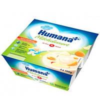 Humana «С яблоком-абрикосом и натуральными пребиотиками» Кисломолочный продукт 4х100 г