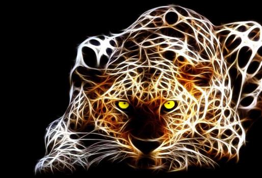 Алмазная мозаика Леопард ночью 30*40см без рамки 40*8*5см (H8788)