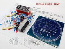 Набір світлодіодні годинник , будильник, термометр, DS1302 зроби сам , DIY